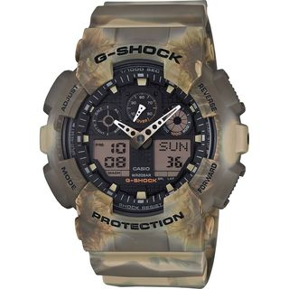 Casio Men's GA100MM-5A 'G-Shock' Chronograph Analog-Digital Grey Resin Watch