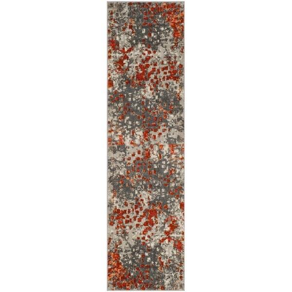 Safavieh Monaco Vintage Oriental Grey/ Orange Runner Rug (2'2 x 16')