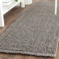 Safavieh Natural Fiber Coastal Hand-Woven Jute Light Grey Runner Rug - 2'6 x 22'