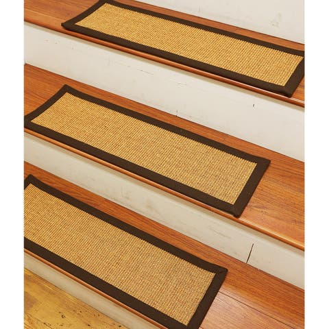 "Natural Area Rugs Handcrafted Chandler Sisal Stair Treads (Set of 13) - 13PC (9"" x 29"")"