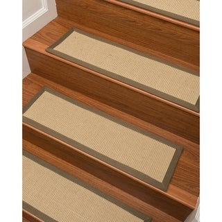 natural area rugs handcrafted felice sisal stair treads 9 x 29 set of - Natural Area Rugs