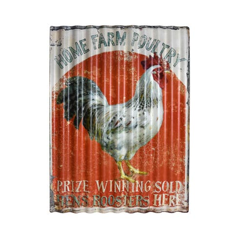 Rooster-themed Metal Wall Art