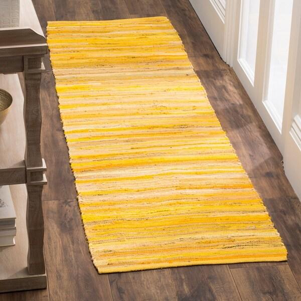 Safavieh Rag Rug Transitional Stripe Hand Woven Cotton