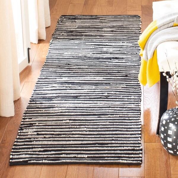 Woven Cotton Rag Rug Runner: Shop Safavieh Rag Rug Transitional Stripe Hand-Woven