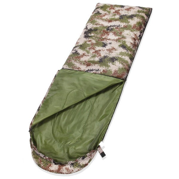 HLY-S1010 Disruptive Pattern Mummy Shaped Outdoor Camping Sleeping Bag