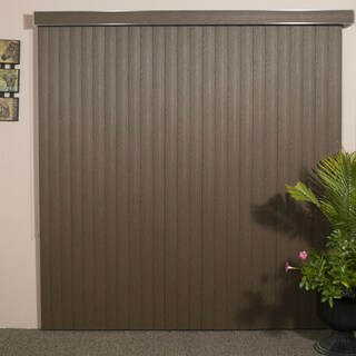 WoodLook Chestnut Textured Vinyl Veritical Blind, 60 inches Long x 36 to 98 inches Wide (More options available)