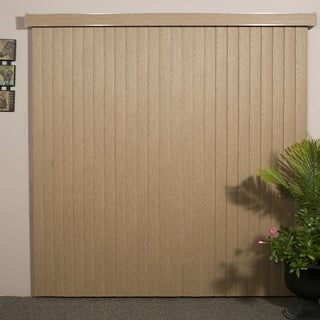 WoodLook Pecan Textured Vinyl Veritical Blind, 48 inches Long x 36 to 98 inches Wide