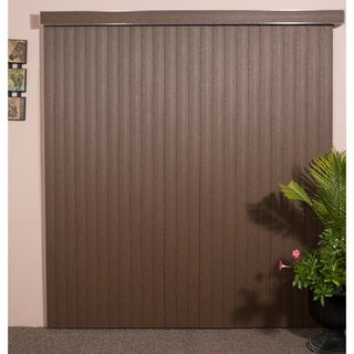 WoodLook Chestnut Textured Vinyl Veritical Blind, 48 inches Long x 36 to 98 inches Wide