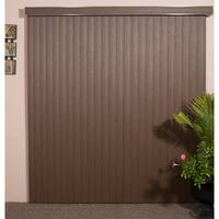 "Chestnut Woodlook Vinyl Vertical Blind, 48"" L x 36"" to 98"" W, CORDLESS"