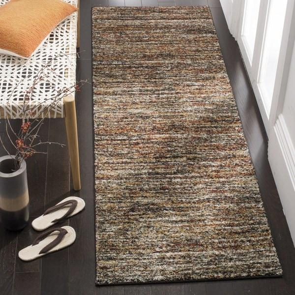 Safavieh Retro Contemporary Stripe Ivory/ Gold Runner Rug (2'3 x 9')