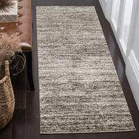 Safavieh Retro Contemporary Stripe Ivory/ Grey Runner Rug (2'3 x 11')