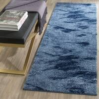 "Safavieh Retro Modern Abstract Light Blue/ Blue Runner Rug - 2'3"" x 13'"
