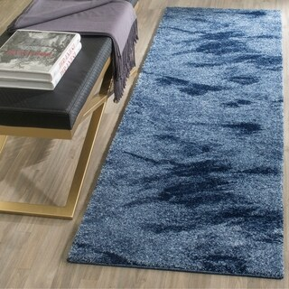"Safavieh Retro Modern Abstract Light Blue/ Blue Runner Rug - 2'3"" x 15'"