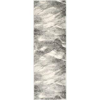 Safavieh Retro Modern Abstract Grey/ Ivory Runner Rug (2'3 x 15')