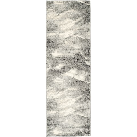 "Safavieh Retro Modern Abstract Grey/ Ivory Runner Rug - 2'3"" x 19' Runner"