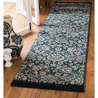Safavieh Serenity Transitional Oriental Turquoise/ Cream Runner Rug (2'3 x 6')