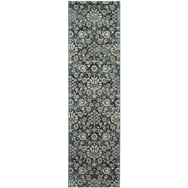 Turquoise Runner Rug: Safavieh Serenity Transitional Oriental Turquoise/ Cream