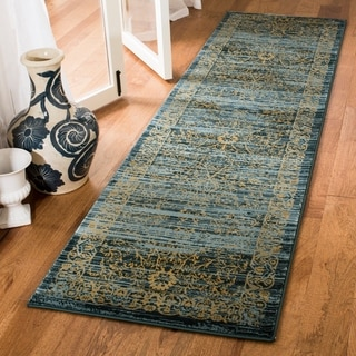 Safavieh Serenity Transitional Oriental Turquoise/ Gold Runner Rug (2'3 x 12')