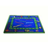 Calendar Multicolored Nylon Machine-tufted Area rug - 5' x 8'