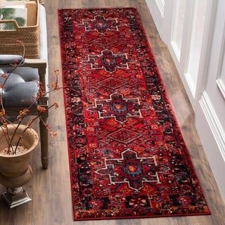 Safavieh Vintage Hamadan Vintage Oriental Red/ Multi Runner Rug (2'2 x 16')
