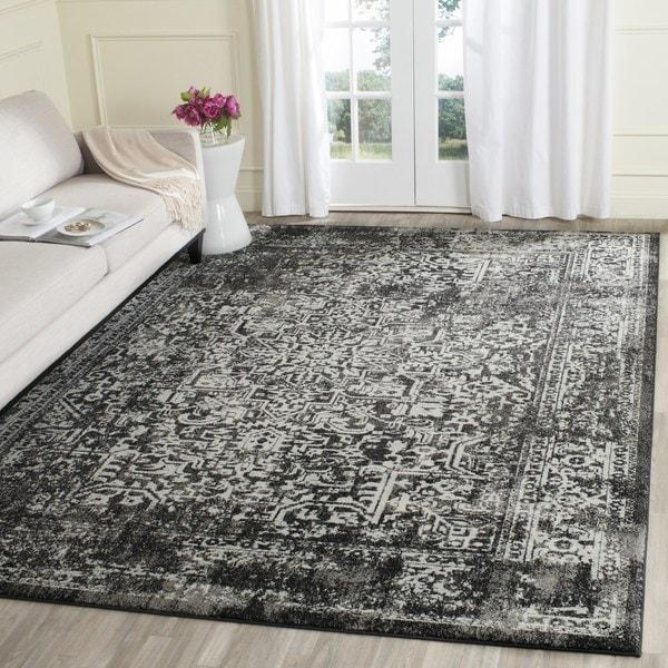 Safavieh Evoke Vintage Oriental Black/ Grey Area Rug - 5'1 square