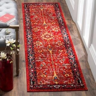 Safavieh Vintage Hamadan Vintage Oriental Orange/ Navy Runner Rug (2'2 x 12')