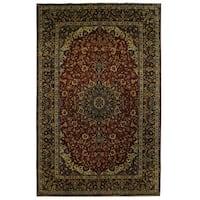Handmade Herat Oriental Persian Tribal Isfahan Wool Rug (Iran) - 9'10 x 15'10