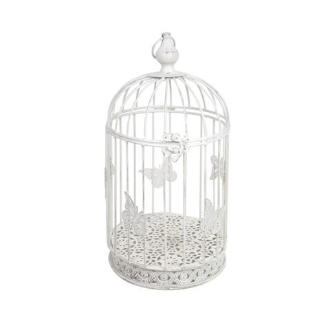 Cartrettes White Metal Bird Cage (Set of 3)