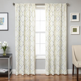 Softline Monza Emboridered Faux Linen Curtain Panel