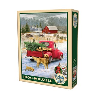 Cobble Hill Christmas on the Farm Puzzle 1,000 Pieces