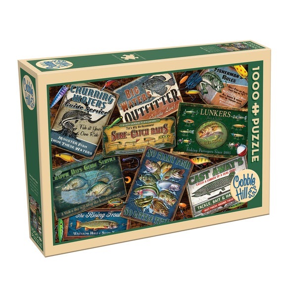 Cobble Hill Fish Signs Puzzle 1,000 Pieces