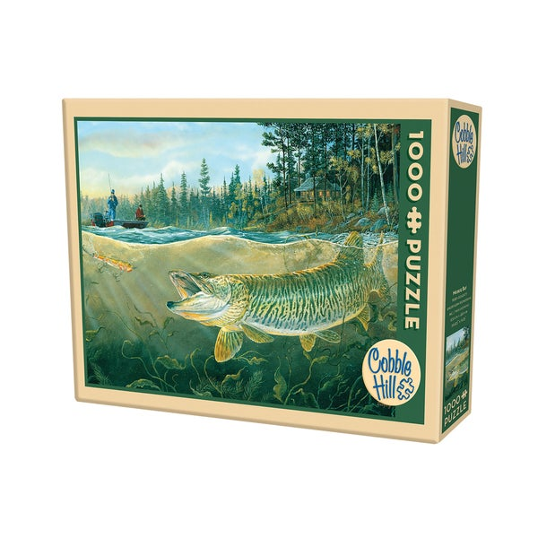 Cobble Hill Muskie Bay Fishing Puzzle 1,000 Pieces