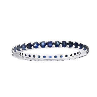 1 carat Natural Blue Sapphires Eternity Band Ring in Sterling Silver|https://ak1.ostkcdn.com/images/products/16412874/P22760726.jpg?impolicy=medium