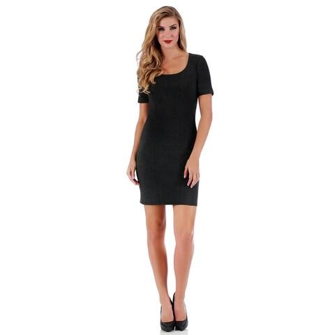 LaMonir Short Square-neck Panel Dress