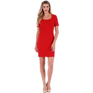 LaMonir Short Square-neck Panel Dress
