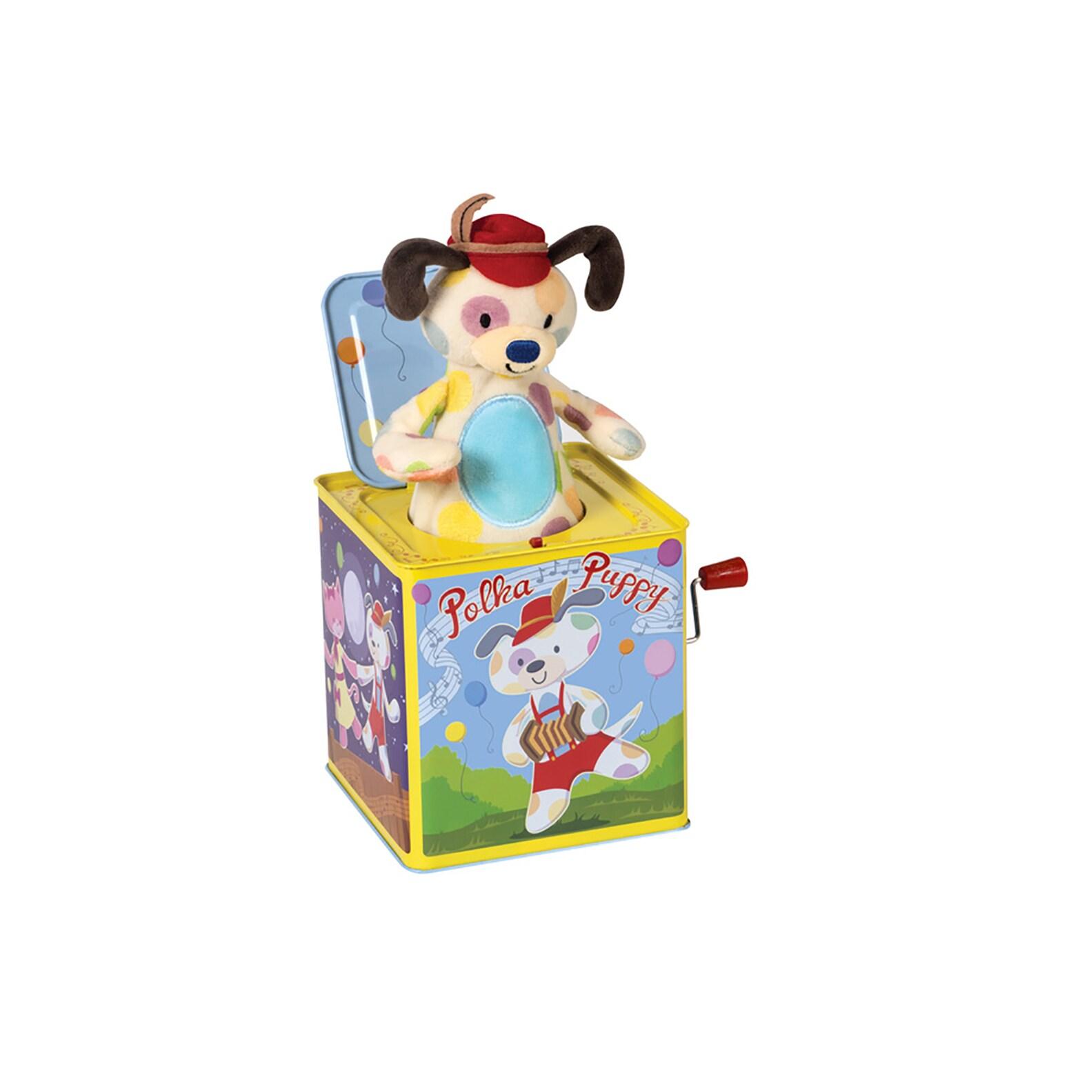 Schylling Polka Puppy Jack In Box (G019649233793)