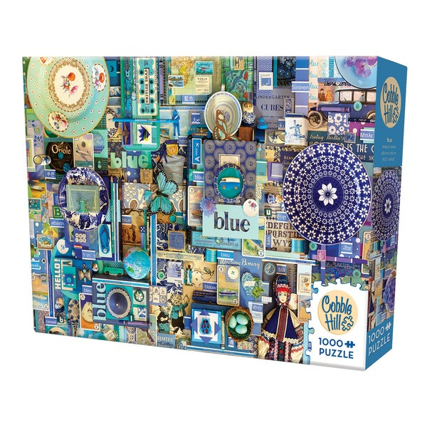 Cobble Hill All Things Blue Puzzle 1,000 Pieces