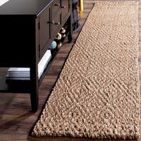 Safavieh Natural Fiber Coastal Solid Hand-Woven Jute Natural/ Natural Runner Rug - 2'3 x 22'