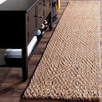 Safavieh Natural Fiber Coastal Solid Hand-Woven Jute Natural/ Natural Runner Rug - 2'3 x 14'