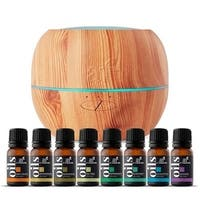 artnaturals 100ml Essential Oil Diffuser & Top 8 Essential Oil Set