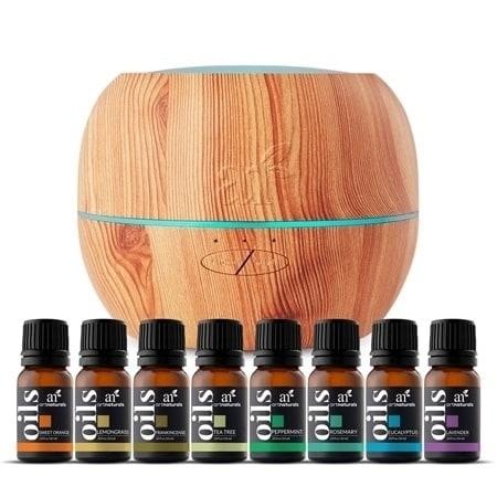 artnaturals 100ml Essential Oil Diffuser & Top 8 Essential Oil Set