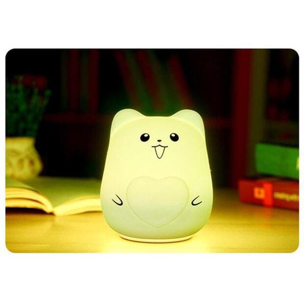 Colorful Night Lights USB Animal Silicone LED Night Light Baby Bedside Lamp Bedroom Light Decompression Gift Random Color