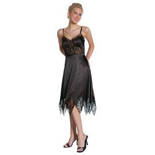 DFI Women's Knee Length V-Neck Dress