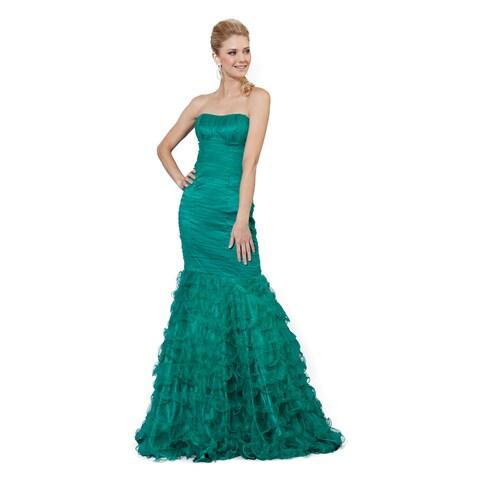 DFI Women's Strapless Prom Dress (Regular and Plus)