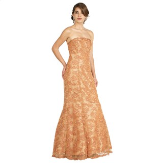 DFI Women's Long Strapless Gown