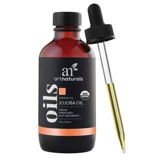 artnaturals USDA Certified Organic 4-ounce Jojoba Oil https://ak1.ostkcdn.com/images/products/16413139/P22760964.jpg?impolicy=medium