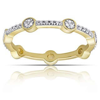 Finesque Gold over Silver or Sterling Silver Diamond Accent Eternity Band Ring (I-J, I2-I3) (Size 7)|https://ak1.ostkcdn.com/images/products/16413153/P22760990.jpg?impolicy=medium