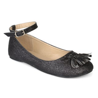 Journee Collection Kids 'Bardot' Ankle Strap Glitter Dress Shoes (More options available)