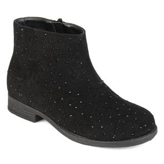 Journee Collection Kids 'Clancy' Faux Rhinestone Geometric Stitching Boots