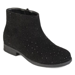 Journee Collection Kids 'Clancy' Faux Rhinestone Geometric Stitching Boots (More options available)